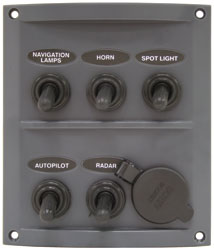 splashproof 5 way panel with Cig socket 84586_lg